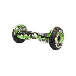 Гироскутер SB New Premium 10.5 дюймов зеленый граффити с APP и самобалансом