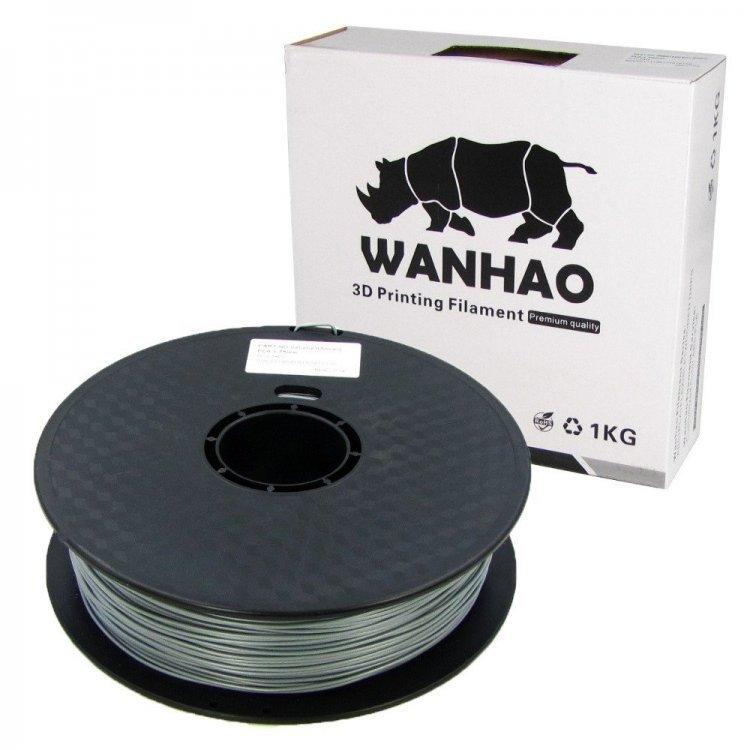 PLA пластик Wanhao, 1.75 мм, silver, 1 кг модель PLA пластик Wanhao, 1.75 мм, silver, 1 кг от Wanhao
