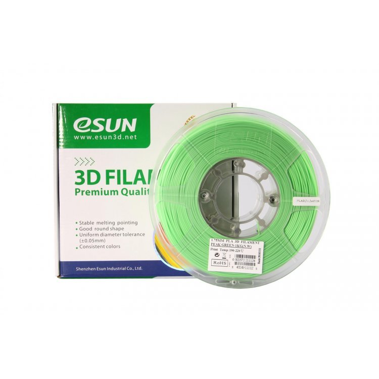 PLA+ пластик eSun, 1.75 мм, peak green, 1 кг модель PLA+ пластик eSun, 1.75 мм, peak green, 1 кг от
