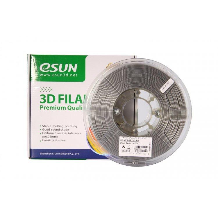 PLA+ пластик eSun, 1.75 мм, silver, 1 кг модель PLA+ пластик eSun, 1.75 мм, silver, 1 кг от